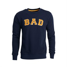 BAD BEAR 19.02.12.003 ERKEK CASUAL SWEATSHIRT  LACIVERT