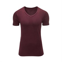JACK AND JONES 12059219 ERKEK CASUAL T-SHIRT  BORDO