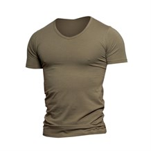 JACK AND JONES 12059219 ERKEK CASUAL T-SHIRT  OLIVE
