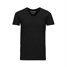 JACK AND JONES 12059219 ERKEK CASUAL T-SHIRT  SIYAH