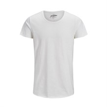 JACK AND JONES 12136679 ERKEK CASUAL T-SHIRT  EKRU