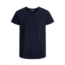 JACK AND JONES 12136679 ERKEK CASUAL T-SHIRT  LACIVERT