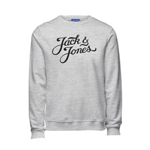 JACK AND JONES 12137573 ERKEK CASUAL SWEATSHIRT  BEYAZ