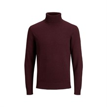 JACK AND JONES 12157417 ERKEK CASUAL TRİKO  BORDO