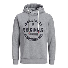 JACK AND JONES 12162184 ERKEK SWEATSHIRT  GRI