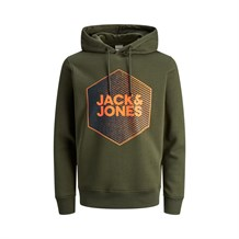 JACK AND JONES 12165093 ERKEK CASUAL SWEATSHIRT  HAKI