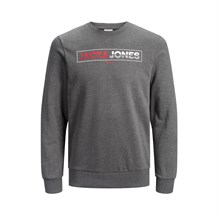 JACK AND JONES 12166799 ERKEK CASUAL SWEATSHIRT  FUME