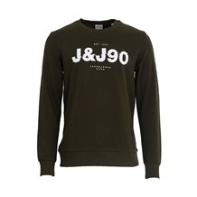 JACK AND JONES 12176086 ERKEK SWEATSHIRT  HAKI