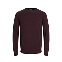 JACK AND JONES 12137190 ERKEK CASUAL TRİKO  BORDO